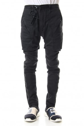 HAMCUS 19-20AW Concealed Geo Cargo jeans