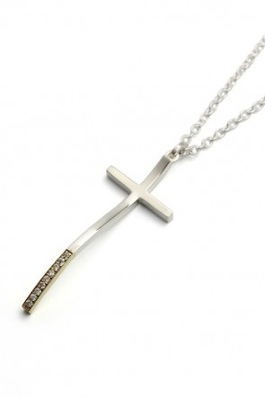 IVXLCDM  IVXLCDM LONG TALL CROSS PENDANT