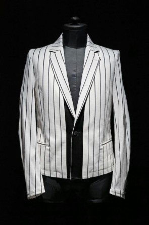 GalaabenD16SSGalaabenD 16S Tuck Stripe Stretchy Jacket WHITE