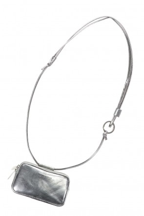 PATRICK STEPHANClassicLeather micro shoulder bag 'double zip'-scratch SIL-Free