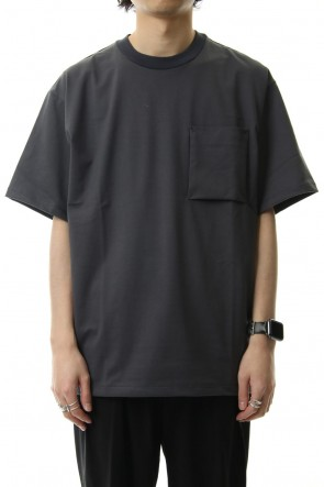 CLANE HOMME 19SS POCKET T/S D/Gray