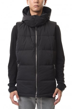 wjk 19-20AW Simple hooded Down vest