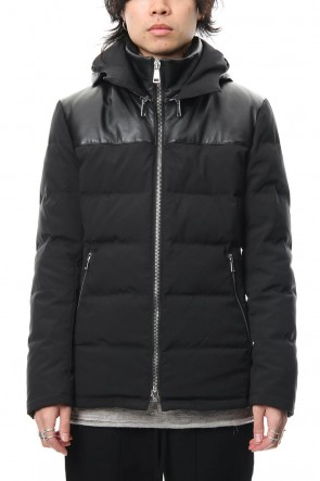 wjk 18-19AW Leather Combi Down Jacket
