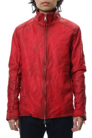 wjk 18-19AW Stand collar single blouson - Red