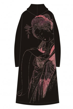 Ground Y20SS『惺々暁斎下絵帖』より文読む美人 Coat