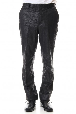 JOHN LAWRENCE SULLIVAN 20SS CRACKED COATING STRAIGHT TROUSERS