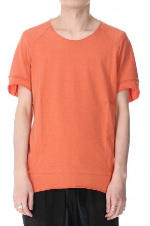 individual sentiments 21SS UNISEX WOVEN TUCK DARTS S/S T-SHIRT Physalis Orange