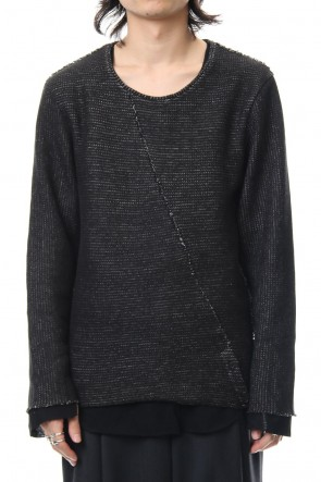 ASKyy 18-19AW Layered Slash Knit - BLK/BLK