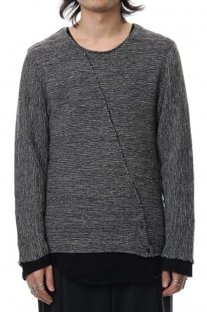 ASKyy 18-19AW Layered Slash Knit - MIX/BLK
