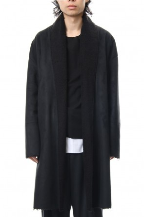 ASKyy 18-19AW Fake Mouton Coat (LONG) - blk/blk