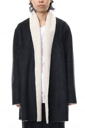 ASKyy 18-19AW Fake Mouton Coat (SHORT) - blk/ecru