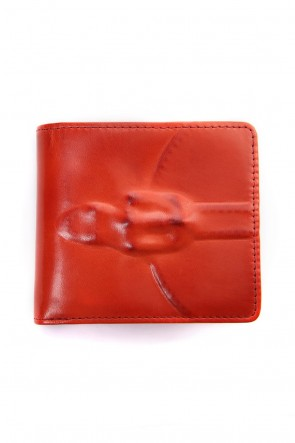 MIHARAYASUHIRO Classic Invisible 2 Fold Wallet Red