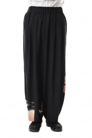 RONDO.ym 19-20AW Silk Georgette Wide Pants D