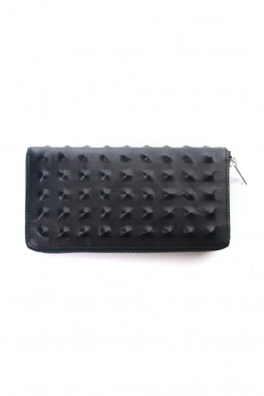 MIHARAYASUHIRO Classic Invisible Studs Long Wallet Navy