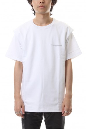 JOHN LAWRENCE SULLIVAN 19-20AW COTTON TUCKED SHOULDER SS TEE White
