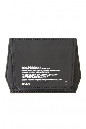 JULIUS 18PF Polygon Coin & Card Case (CALF NUBACK)