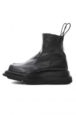 JULIUS 19SS OVERLAYING SIDE ZIP ENGINEER BOOTS