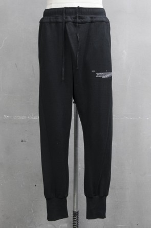 JULIUS 19PF TUCKED TRACK PANTS Black