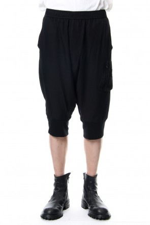 JULIUS 19PF MILITARY CROTCH PANTS Black