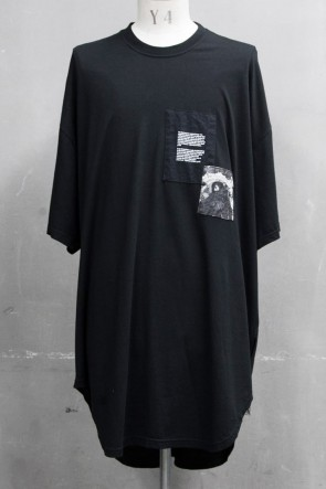 JULIUS 20PS PATCH PRINT OS T-SHIRT Black
