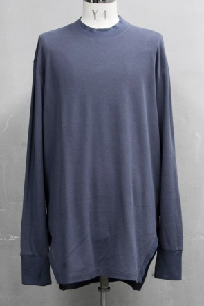 JULIUS 20PS FRAMED HEM SHIRT Blue Gray