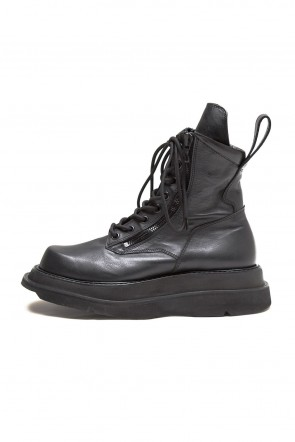 JULIUS 20PS W SOLE ZIP COMBAT BOOTS Black