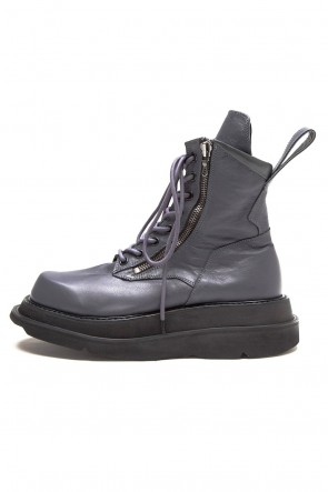 JULIUS 20PS W SOLE ZIP COMBAT BOOTS Purple
