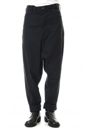 JULIUS 20PS LOW CROTCH BAGGY PANTS Black