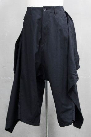 JULIUS 20PS WRAP PANTS Black
