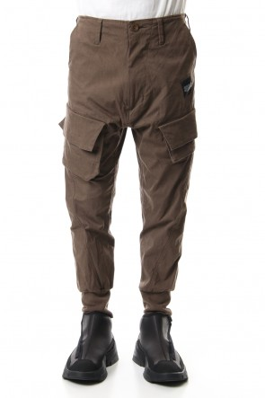 JULIUS 20PS CARGO TRACK PANTS Khaki