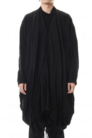JULIUS 20SS DRAPE GOWN Black