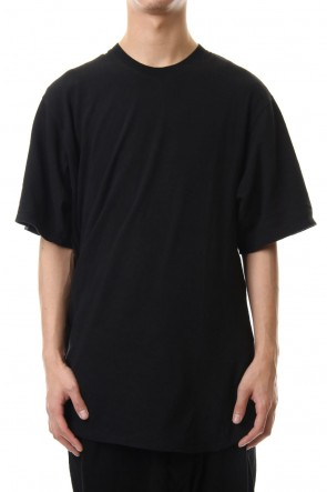 JULIUS 20SS Shirring S/S cut & sewn Black