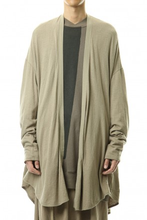 JULIUS 20SS Long cardigan Sand