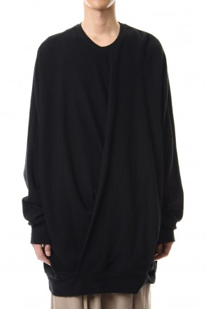 JULIUS 20SS DRAPE TOP ver.2 Black