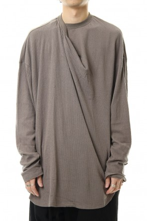 JULIUS 20SS Tuck drape L/S cut & sewn Gray