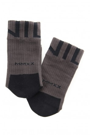 NILøS 20SS Graphic socks Charcoal
