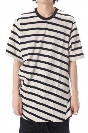 JULIUS 20PF STRIPE T-SHIRT OFF x BK