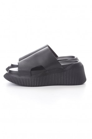 JULIUS 20PF YORYU SOLE LEATHER SANDALS