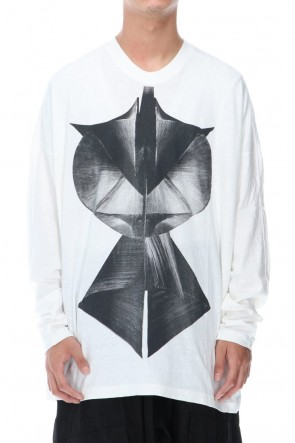 JULIUS 20-21AW LS PRINT T-SHIRT OFF WHITE