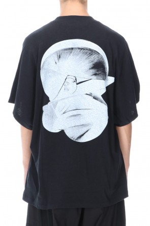 JULIUS 20-21AW DOLMAN SLEEVE PRINT T-SHIRT BLACK