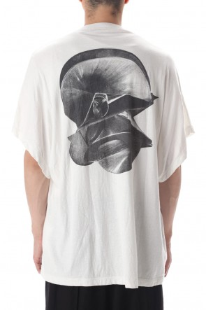 JULIUS 20-21AW DOLMAN SLEEVE PRINT T-SHIRT OFF WHITE