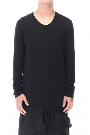 JULIUS 20-21AW LOOP LS T-SHIRT BLACK