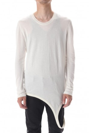 JULIUS 20-21AW LOOP LS T-SHIRT OFF WHITE