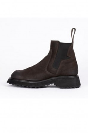 JULIUS20-21AWCOATED SUEDE CHELSEA BOOTS BROWN