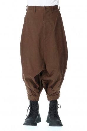 JULIUS 20-21AW TUCK BAGGY PANTS BROWN