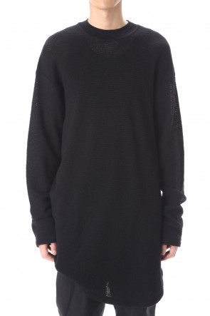 JULIUS 21PS LS Wool pullover