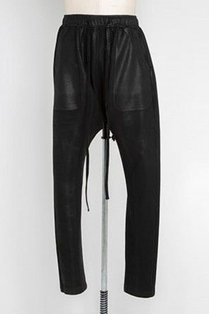 JULIUS21-22AWCoated sweat Seamed pants