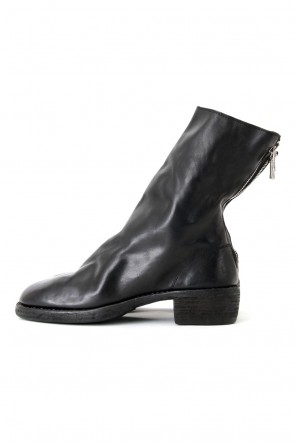 GuidiClassicBack Zip Boots Double Sole - Horse Full Grain Leather
