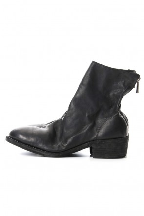 Guidi 19SS Back Zip Boots Double Heel Single Sole-KANGAROO Full Grain Leather