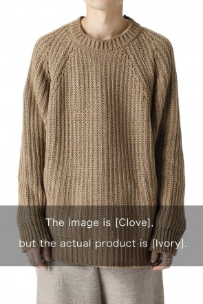 O PROJECT21-22AWKNITTED CREW NECK Ivory